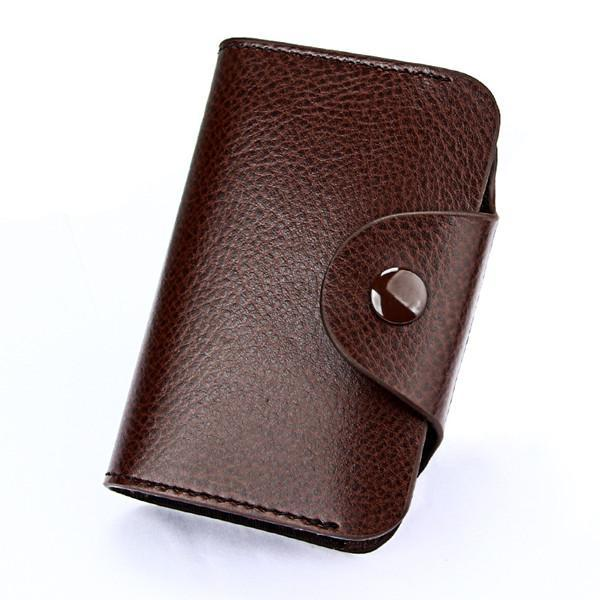 PINkart-USA Online Shopping Coffee Hot Men Wallets Genuine Leather 15 Card Holder Wallet Male Clutch Pillow Designer Small Wallet