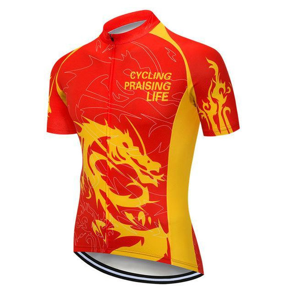 PINkart-USA Online Shopping Color 2 / L Skull Cycling Jersey Shirt Black Men Cycling Clothing Summer Short Sleeve Mtb Bike Jersey