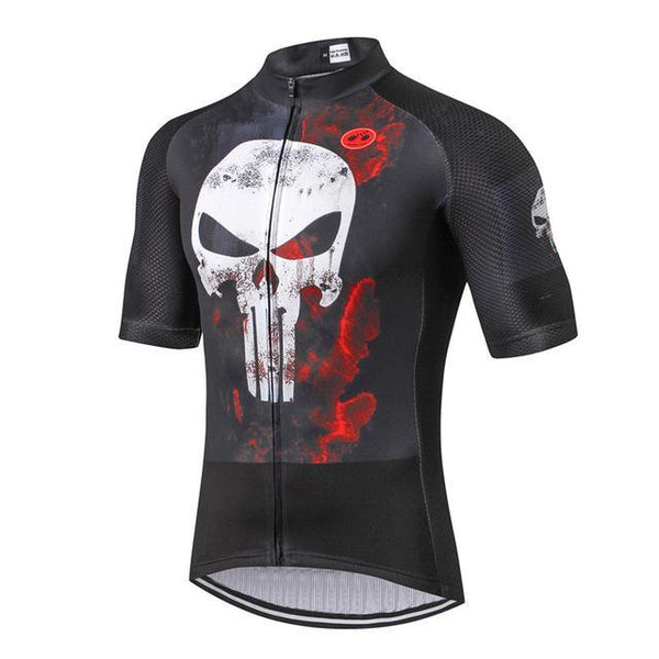 PINkart-USA Online Shopping Color 3 / L Skull Cycling Jersey Shirt Black Men Cycling Clothing Summer Short Sleeve Mtb Bike Jersey