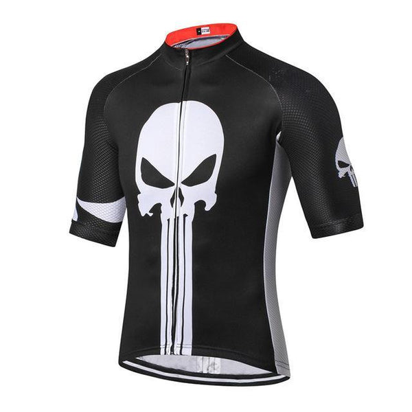 PINkart-USA Online Shopping Color 4 / L Skull Cycling Jersey Shirt Black Men Cycling Clothing Summer Short Sleeve Mtb Bike Jersey