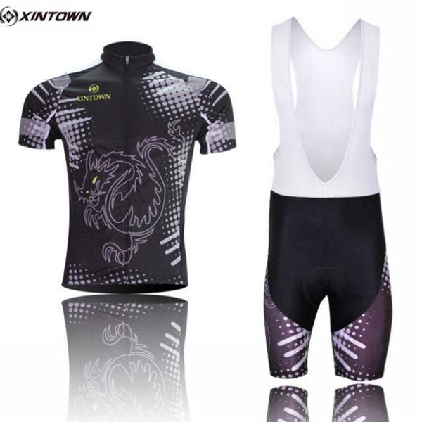 PINkart-USA Online Shopping Color 4 / S Dragon Cycling Jersey Set Men Summer Short Sleeve Mtb Bike Clothing Maillot Ciclismo Road Racing