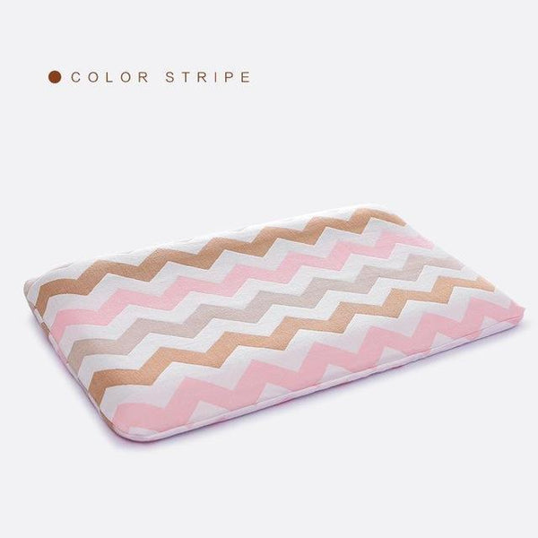 PINkart-USA Online Shopping Color Stripe Slow Rebound Foam Memory Baby Pillow Healthy Orthopedic Neck Care Pillows Bedding Cervical Health