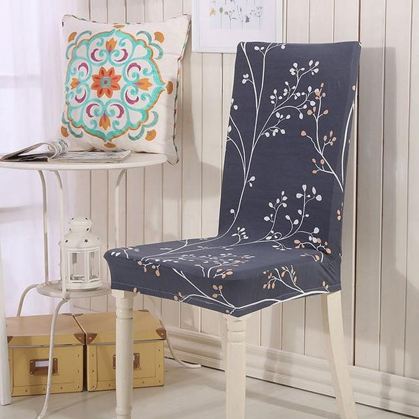PINkart-USA Online Shopping color16 / universal sizes Flower Printing Removable Chair Cover Stretch Elastic Slipcovers Restaurant For Weddings Banquet