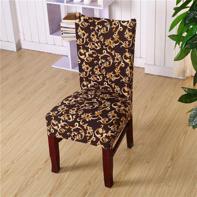 PINkart-USA Online Shopping color6 / universal sizes Flower Printing Removable Chair Cover Stretch Elastic Slipcovers Restaurant For Weddings Banquet