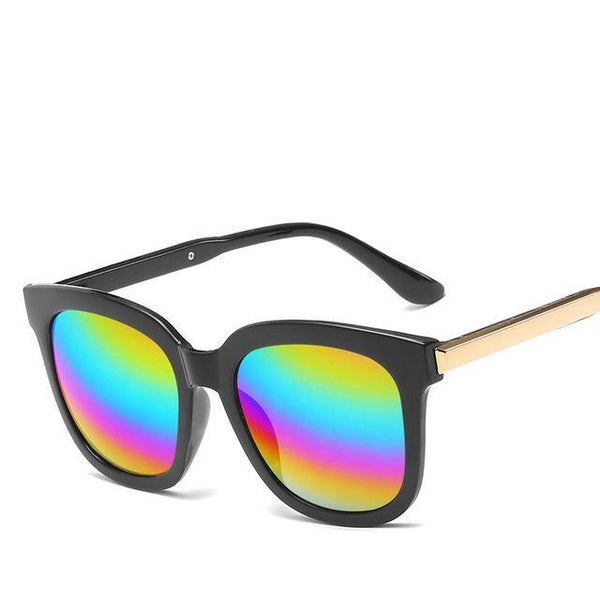 PINkart-USA Online Shopping Colors Trendy Vintage Sunglasses Women Men Uv400 Black Mirror Coating Sun Glasses Retro Hipster Goggles