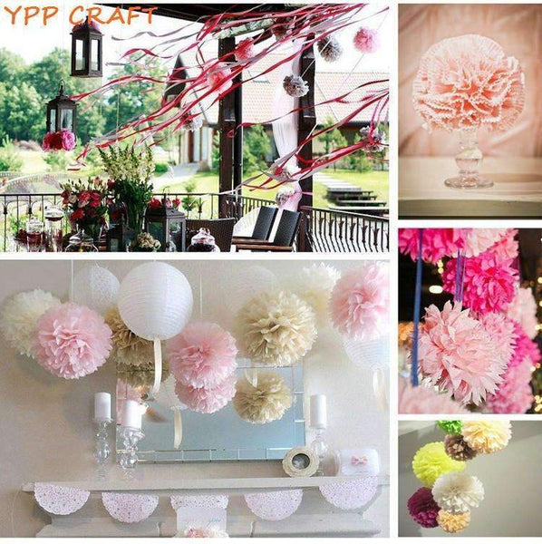 PinKart-USA Online Shopping Craft 4 6 8 Mixed Wedding Decorative Props Tissue Paper Pompoms Pom Poms Balls Wedding