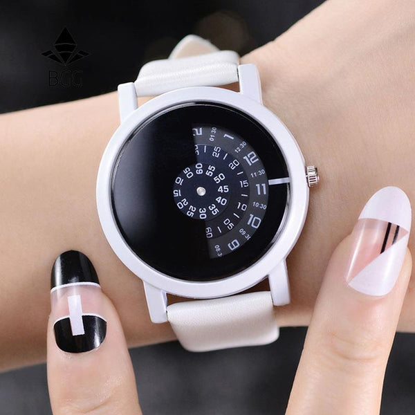 PINkart-USA Online Shopping Creative Design Wristwatch Camera Concept Brief Simple Special Digital Discs Hands Fashion Quartz