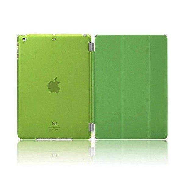PinKart-USA Online Shopping crystal green For Apple Ipad Air Case Pu Leather Magnetic Front Smart Cover+Clear Hard Back Case For Ipad Air 1