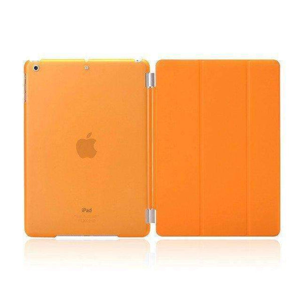 PinKart-USA Online Shopping crystal orange For Apple Ipad Air Case Pu Leather Magnetic Front Smart Cover+Clear Hard Back Case For Ipad Air 1