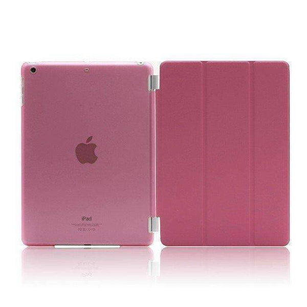 PinKart-USA Online Shopping crystal pink For Apple Ipad Air Case Pu Leather Magnetic Front Smart Cover+Clear Hard Back Case For Ipad Air 1