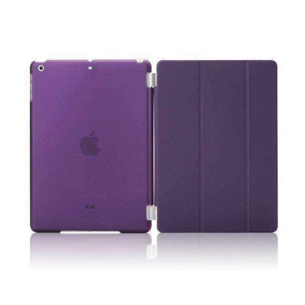 For Apple Ipad Air Case Pu Leather Magnetic Front Smart Cover+Clear Hard Back Case For Ipad Air 1