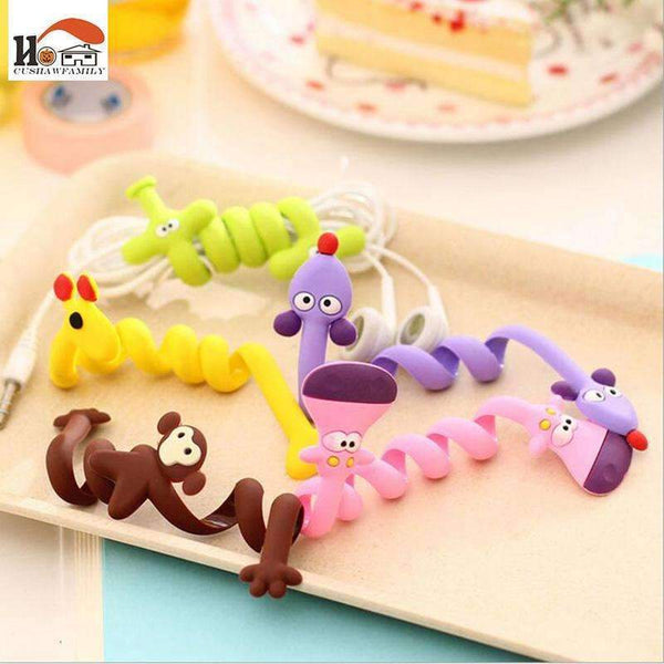 PinKart-USA Online Shopping Cushawfamily Fashion Strip Animal Bobbin Winder Ear Mechanism Storage Line Hub Multi-Function Cable