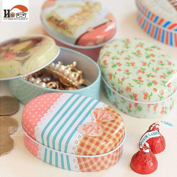 PinKart-USA Online Shopping Cushawfamily Mini European Soap Box Shape Candy Storage Box Wedding Favor Tin Box Cable