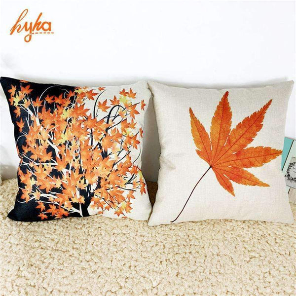 PinKart-USA Online Shopping Cushion Maple Leaf Canadian Style Cotton Linen Pillow Cushion Sofa Bedroom Home Decorative Throw