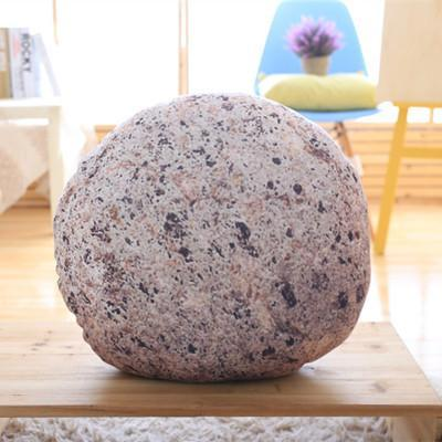 PINkart-USA Online Shopping D / 35cm Creative Stone Pillow Cushion Creative Simulation Stone Pillow Funny Plush Cushions Home Soft