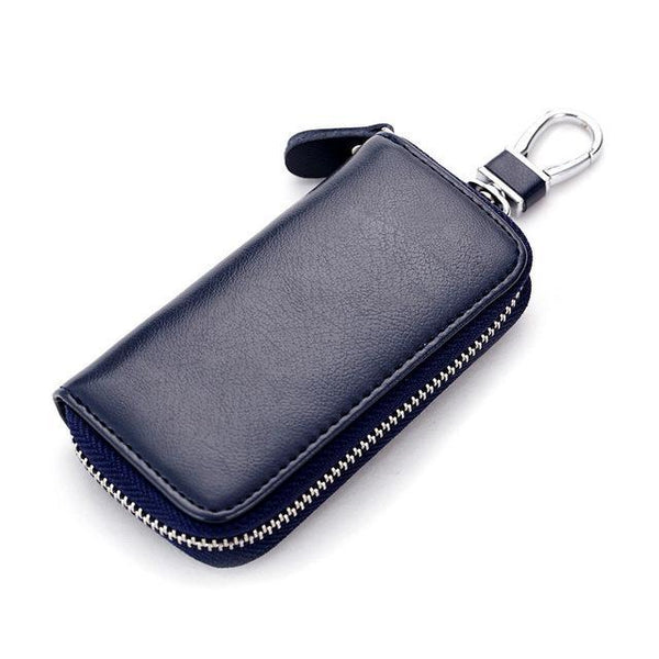 Genuine Cow Leather Men & Women Car Key Bag Wallet Multi Function Key Case Fashion Housekeeper