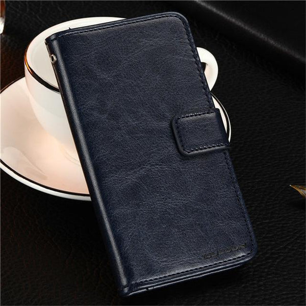 PinKart-USA Online Shopping Dark Blue Gucoon Vintage Wallet Case For Zopo Speed 7 Plus Zp952 5.2Inch Pu Leather Retro Flip Cover