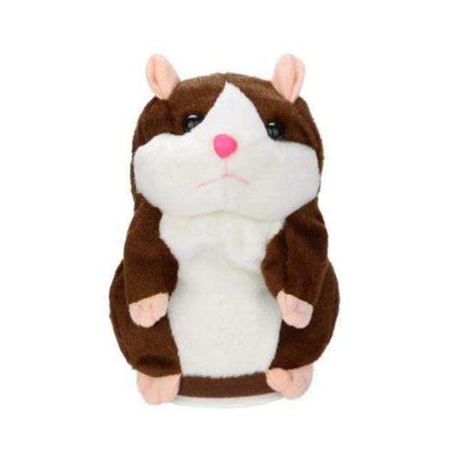 PINkart-USA Online Shopping Dark Brown Talking Hamster Mouse Pet Plush Toy Learn To Speak Electric Record Hamster Educational Children
