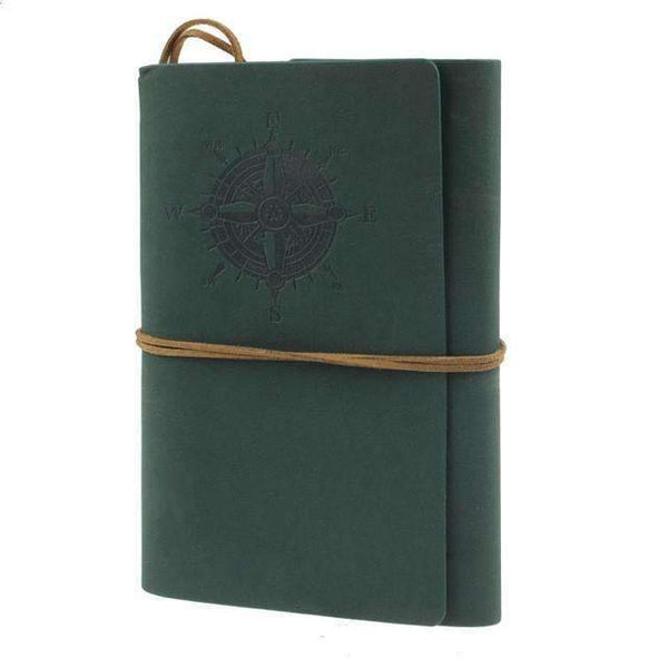 PinKart-USA Online Shopping dark green / B6 150x100mm Mc 2014 Spiral Notebook Est Diary Book Vintage Pirate Anchors Pu Leather Note Book Replaceable