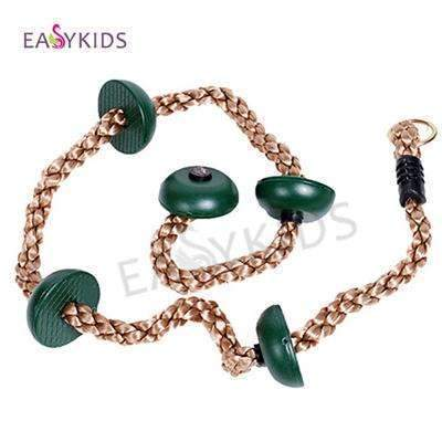 PinKart-USA Online Shopping Dark green Kids Toy Swing Outdoor Indoor Rope Playground Games For Kids Climbing Rope Swing Pe Rope
