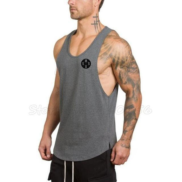 PINkart-USA Online Shopping Dark Grey / XXL Brand Clothing Gyms Stringer Tank Tops Mens Sleeveless T Shirts Man Summer Cotton Bodybuilding