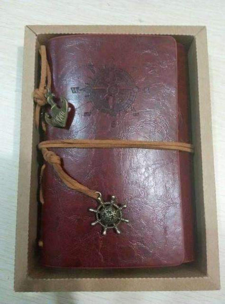 Mc 2014 Spiral Notebook Est Diary Book Vintage Pirate Anchors Pu Leather Note Book Replaceable
