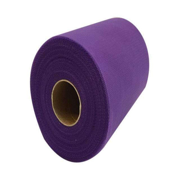 PinKart-USA Online Shopping DEEP PURPLE 60 Color Pick Wedding Tulle Roll Spool Fabric 6Inch*100Yards Baby Grils Skirt Tutu Tulle Roll Gift