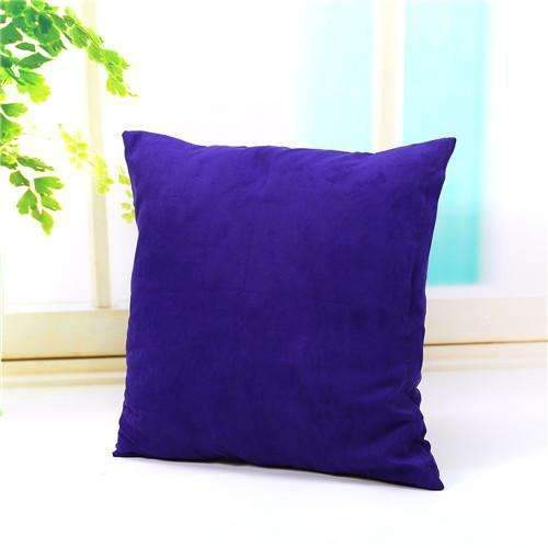 PinKart-USA Online Shopping deep purple Pillow Case Solid Suede Nap Cushion Decorative Pillowcase Valentine'S Day Gift Body Pillow Cases
