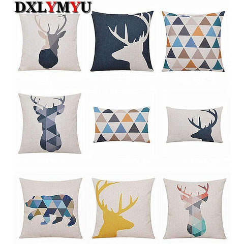 PinKart-USA Online Shopping Deer Animals Print Home Decorative Cushion Pillow Room Decors Car Throw Cushion For Seat ,Car ,Sofa