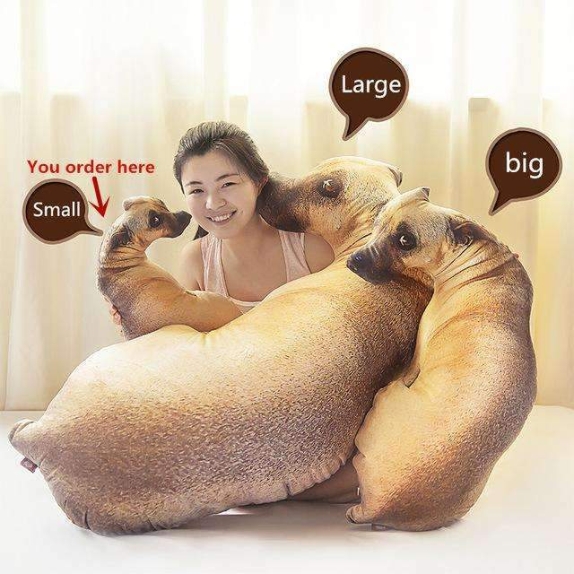 PinKart-USA Online Shopping Default Title 1 Piece Creative Small Dog Shape Decorative Cushion Toys Throw Pillow Gift With Inner Filled Home