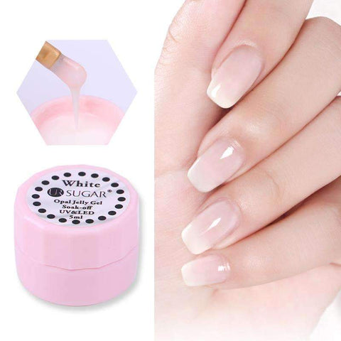 PinKart-USA Online Shopping Default Title 1Bottle 5Ml Opal Jelly Gel Lacquer Semi-Transparent White Soak Off Uv Gel Polish Manicure