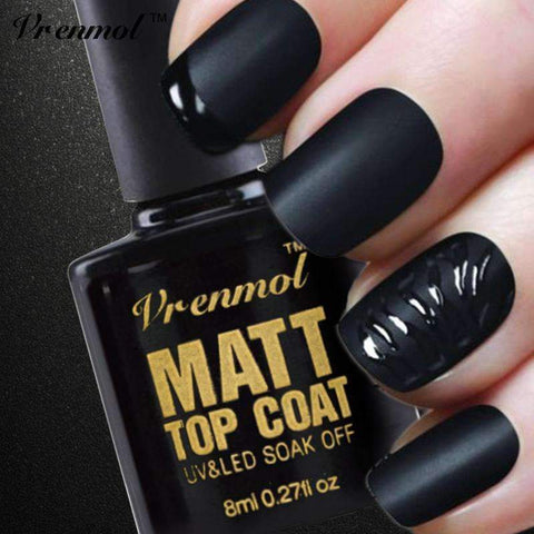 PinKart-USA Online Shopping Default Title 1Pcs Cleaning Matt Matte Top Coat Uv Gel Nail Polish Soak Off Transparent Matte Top Coat