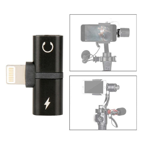 PINkart-USA Online Shopping Default Title 2 In 1 Audio Adapter For Iphone 7 8 X Smooth 4 Gimbal Plus Charging Audio Cable Adapter For