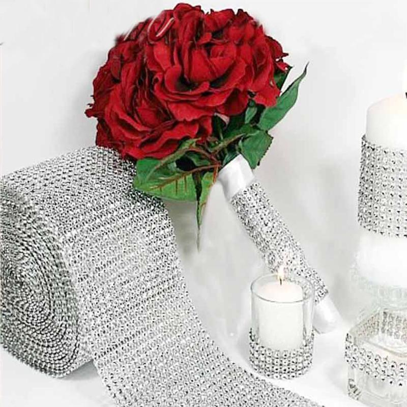 PinKart-USA Online Shopping Default Title 5 Yards Silver Crystal Diamond Mesh Rhinestone Ribbon For Wedding Party Gift Vase Floral Decoration