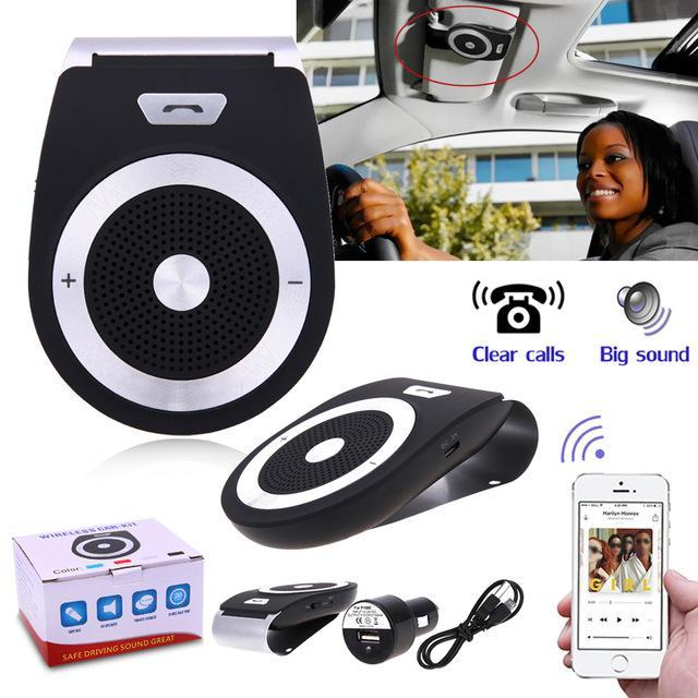 PINkart-USA Online Shopping Default Title Auto Car Bluetooth Handsfree Kit Phones Audio Receiver Calls Voice Speaker Car Aux Home Audio