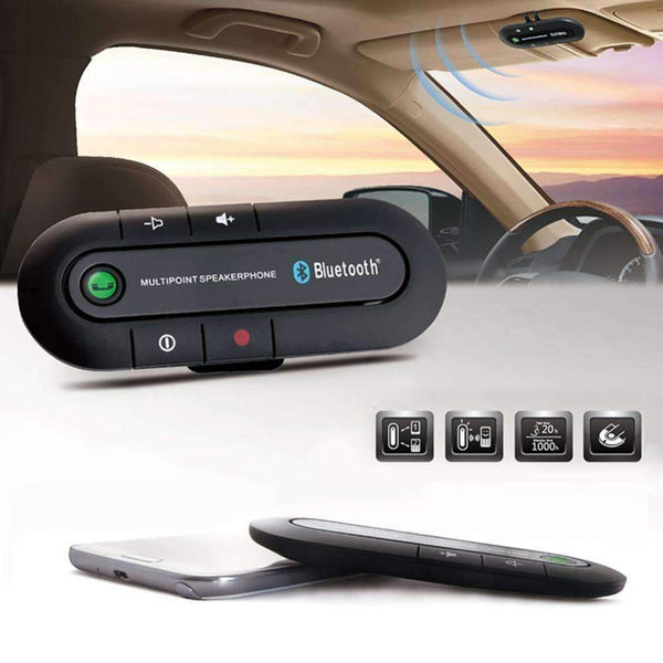 PinKart-USA Online Shopping Default Title Bluetooth 4.1 Multipoint Speakerphone Car Kit Bass Wireless Auto Aux Speaker Handsfree Music
