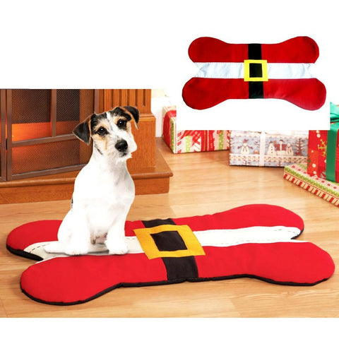 PINkart-USA Online Shopping Default Title Bone Shape Pet Christmas Seat Mat Santa Claus Pet Cat Dog Carpets Rugs Christmas Decoration For