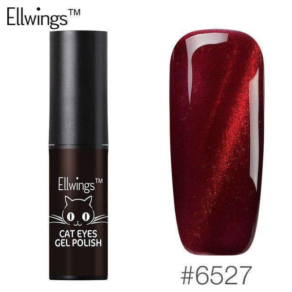 PinKart-USA Online Shopping Default Title Ellwings Glitter 3D Colors Flame Red Cat'S Eye Nail Gel Polish Uv Gel Varnish Glitter Magnet