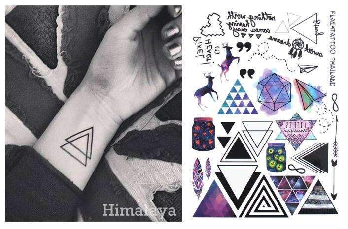 PinKart-USA Online Shopping Default Title Geometric Temporary Tattoos Triangle Tattoos Modern Style Unisex Body Tattoos.