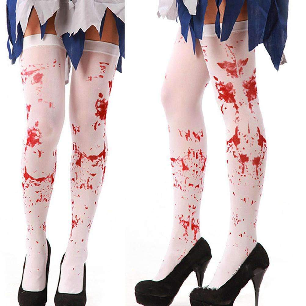 PinKart-USA Online Shopping Default Title Halloween Girls Knee High Socks Blood Printed Stockings Over The Knee Thigh High Socks Meia