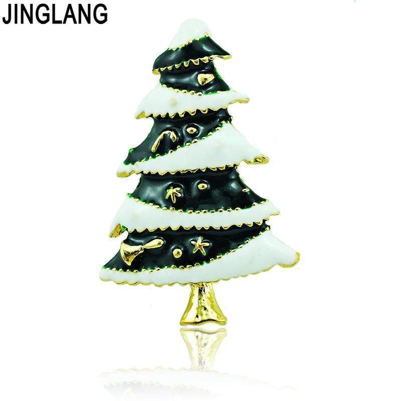 PinKart-USA Online Shopping Default Title High Quantity Brooches Pins Fashion Enamel Christmas Tree Gold Color Brooches Weddings Christmas