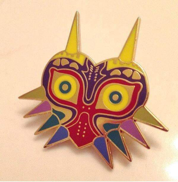 PinKart-USA Online Shopping Default Title Legend Of Zelda Brooches Majoras Mask Pins Game Jewelry,Gold Enamel Majoras Mask Kolye Pins
