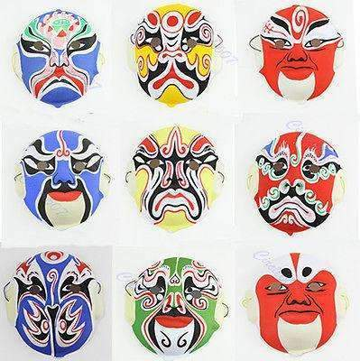 PinKart-USA Online Shopping Default Title M126 20 Pcs/Lot Hand Painted Chinese Art Culture Peking Opera Styles Mask Paper Pulp