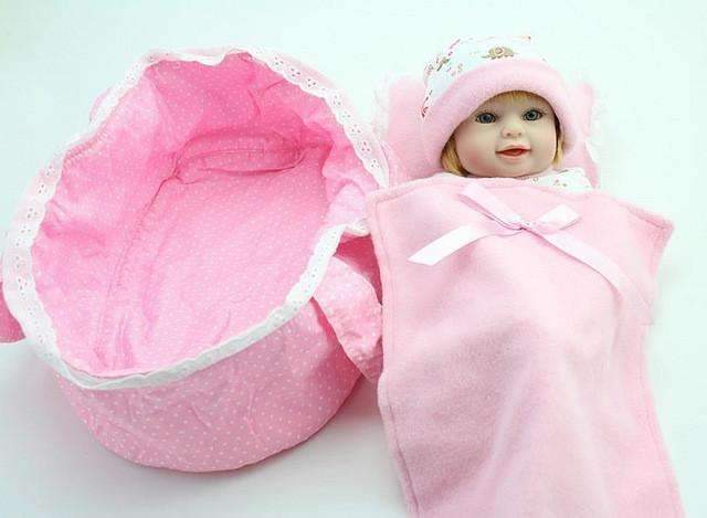 PinKart-USA Online Shopping Default Title Npk Mini Reborn Baby Doll 10 Inch Vinyl Baby Alive Toys Girls Gift Basket Pillow Blankets Outfit