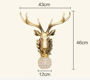 PINkart-USA Online Shopping Default Title Rustic Wall Sconce Creative Deer Head Led Wall Lamp Ktv Corridor Restaurant Decoration Light And