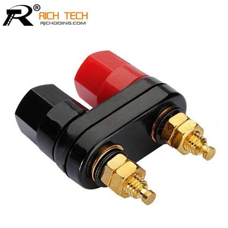 PinKart-USA Online Shopping Default Title Top Quality Banana Plugs Couple Terminals Red Black Connector Amplifier Terminal Binding