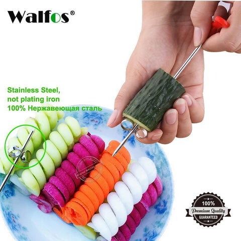 PinKart-USA Online Shopping Default Title Walfos 1Pc Manual Spiral Screw Slicer Plastic Pp + Steel Wire Potato Carrot Cucumber Vegetables