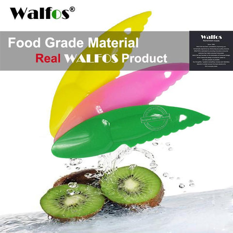 PinKart-USA Online Shopping Default Title Walfos 3 Piece 2 In 1 Kiwi Spoon Plastic Candy Color Kiwi Dig Spoon Scoop Fruit Knife Slicer Peeler