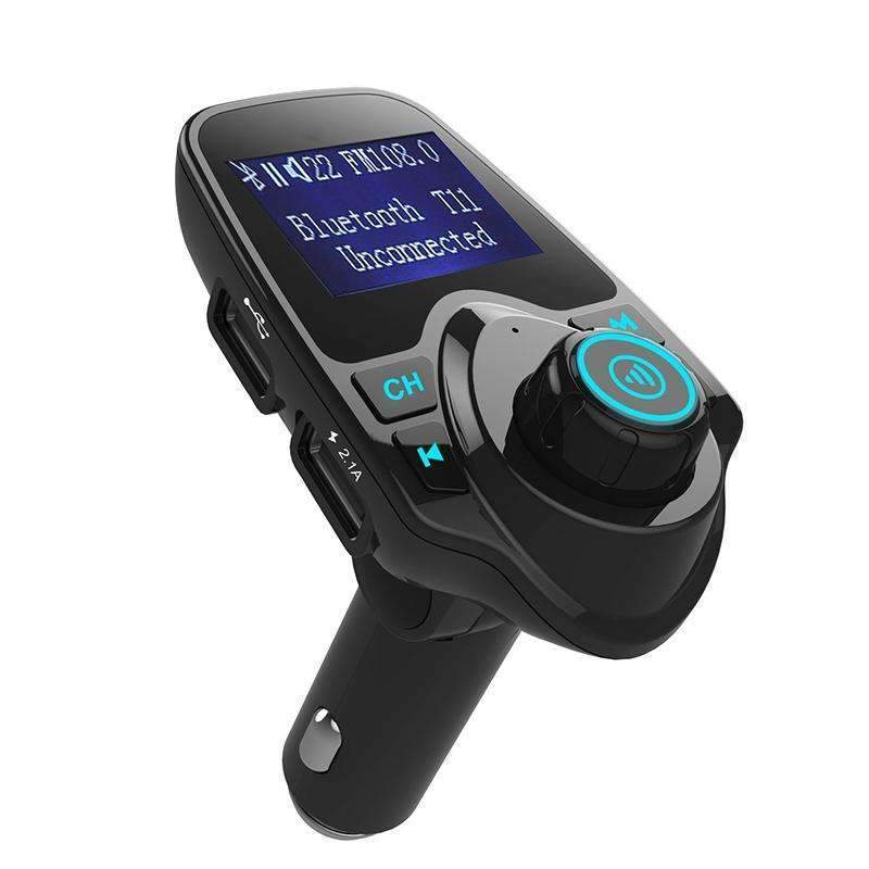 PinKart-USA Online Shopping Default Title Wireless In-Car Bluetooth Hands Free Kit Stereo Fm Transmitter Radio Adapter With Dual Usb Auto