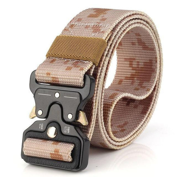PINkart-USA Online Shopping Desert Camo / 125cm Ping Mens Tactical Belt Military Nylon Belt Outdoor Multifunctional Training Belt Combat Belts